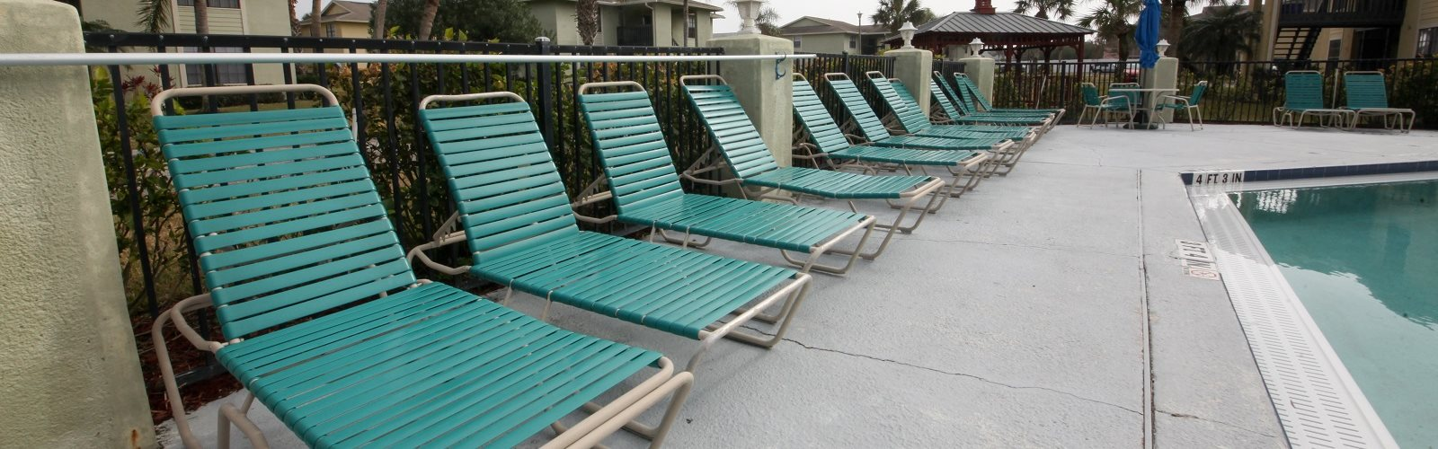 poolside Lounge Chairs at Seaside Villas Apartments, St Augustine, FL