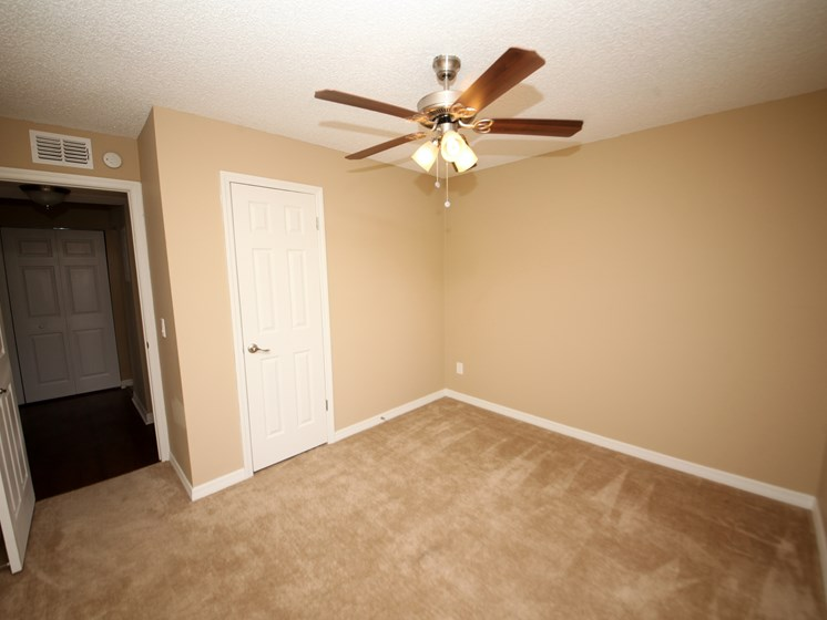 Bedroom with ceiling fan St. Augustine Florida
