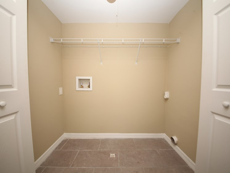 Washer and dryer closet with hookups St. Augustine Florida