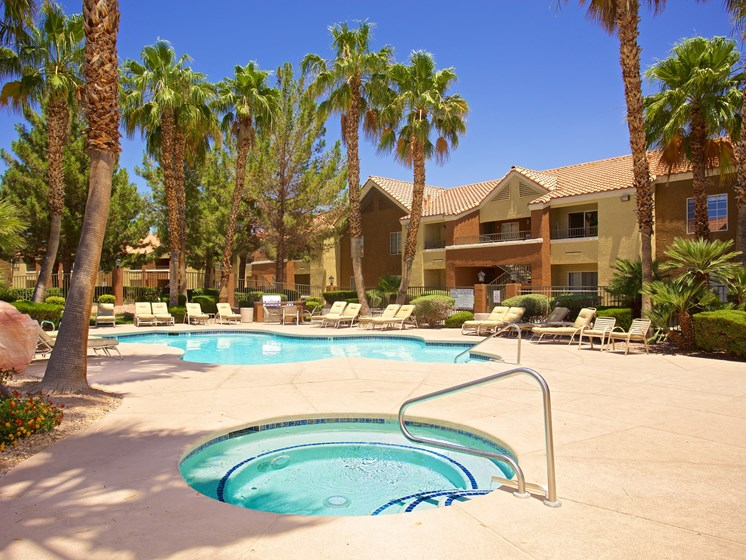 Exterior Pool Spa Lounge Chairs Las Vegas Henderson Nevada
