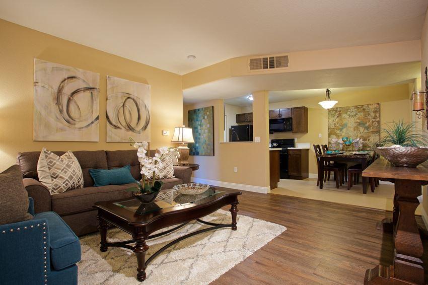 Model Unit Vinyl Flooring Living Room Dining Room Kitchen Las Vegas Henderson Nevada