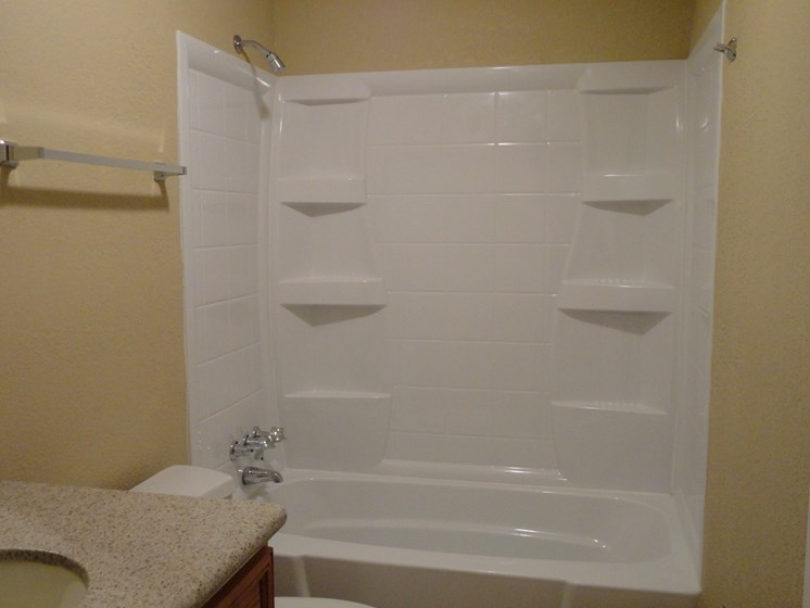 Bathroom with tub and shower Jacksonville Florida