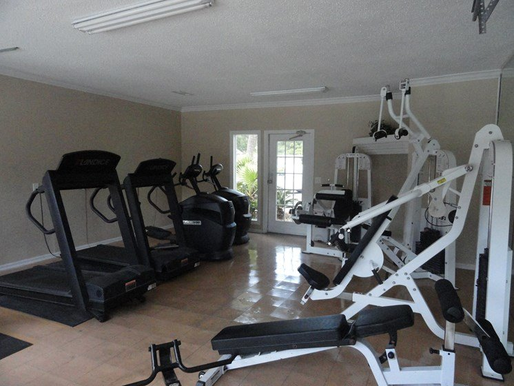 Gym with various workout machines Jacksonville Florida