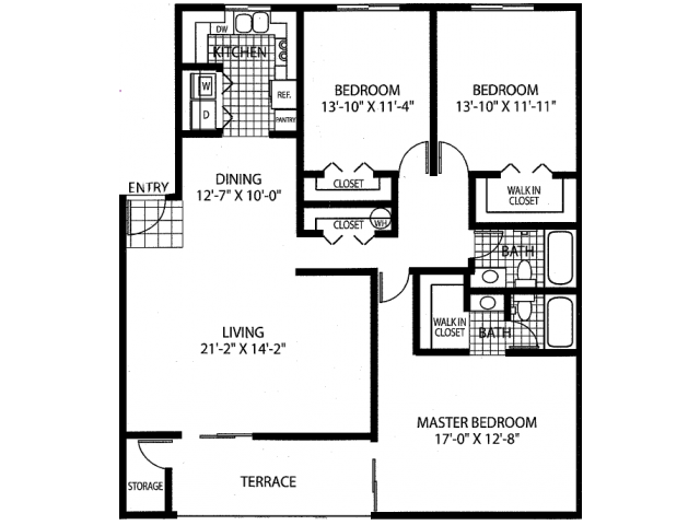 The Cabernet - Renovated Floor Plan 5