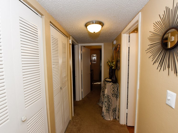 Hallway with two closets Westminster Tampa Florida