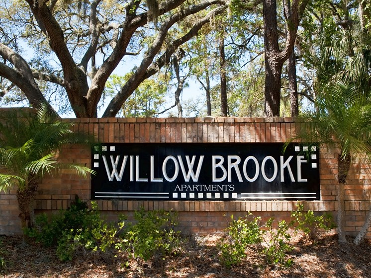 Entrance Sign Willowbrook Tampa Florida