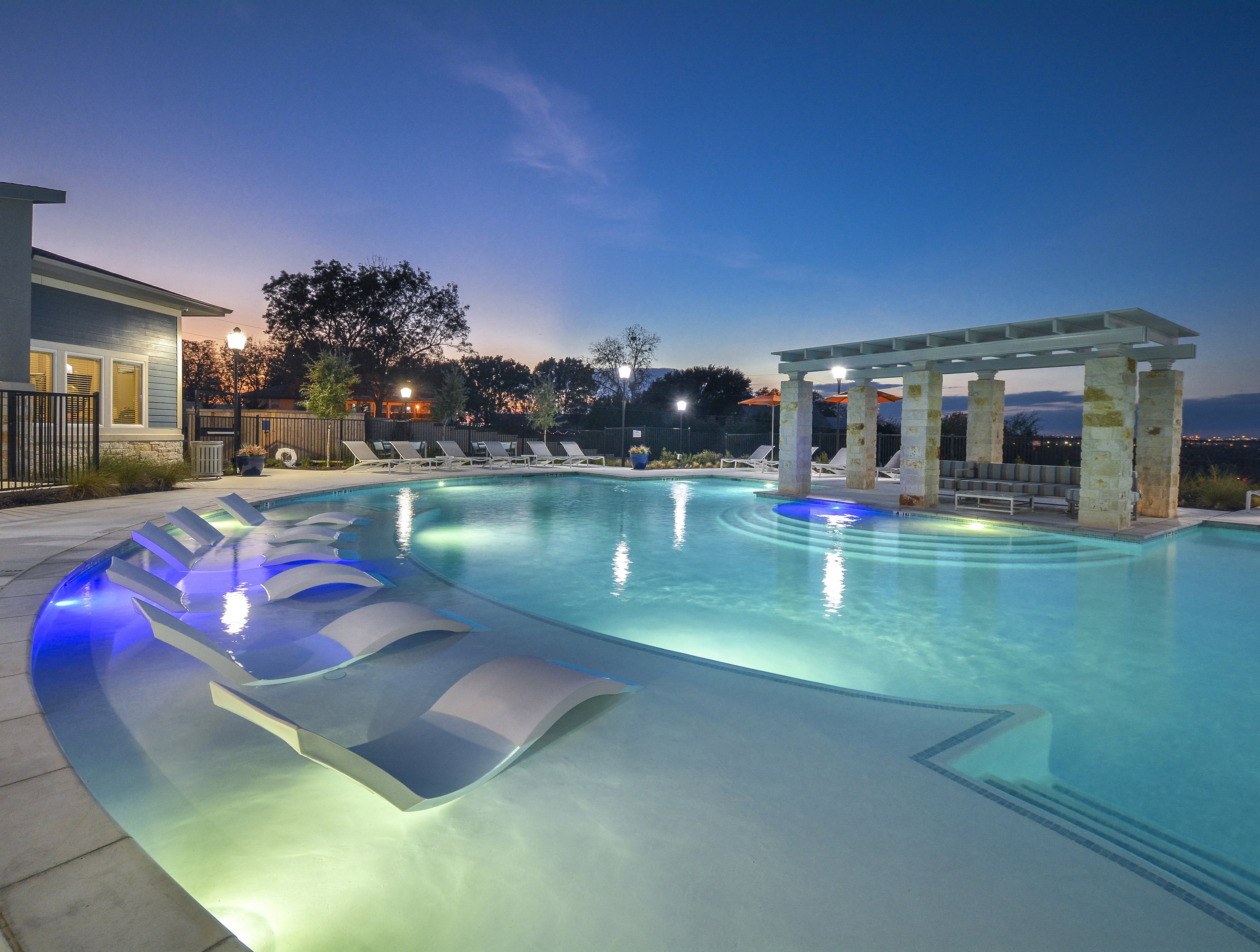 Crystal Clear Swimming Pool with Sundeck and BBQ Pits Throughout at The Terrace at Walnut Creek, Austin, 78724