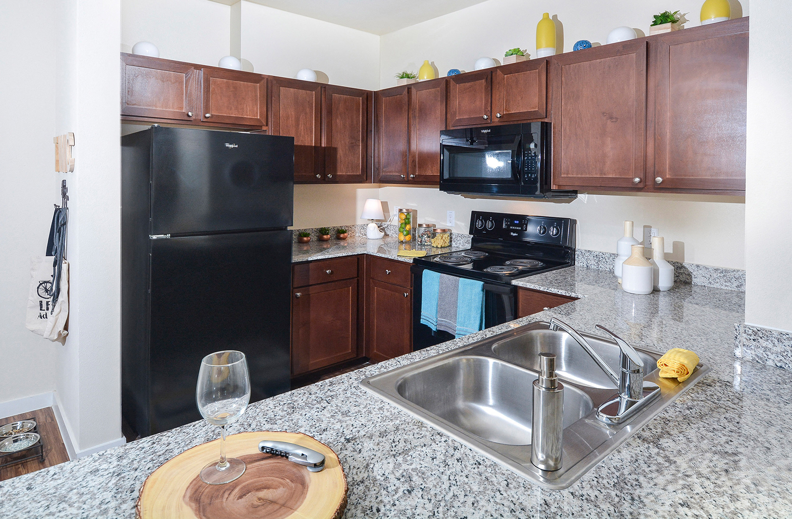 Fully Equipped Kitchen With Granite Countertops At The Terrace At Walnut  Creek, Austin,