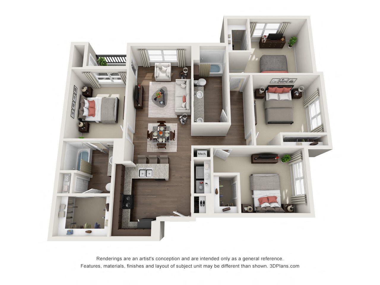 D Floor Plan 6