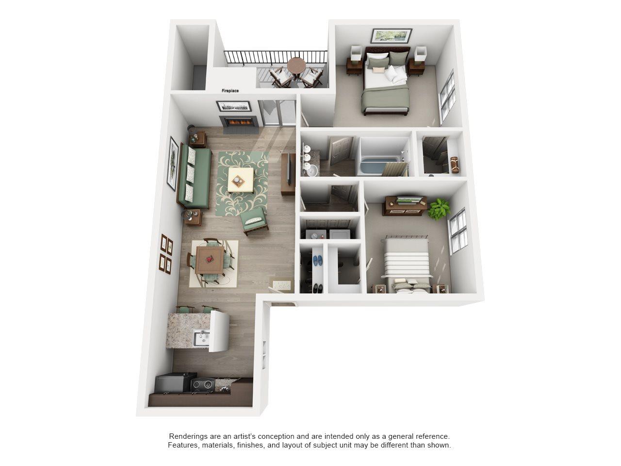 West Grove - Adair I Off Addison 2X1 Floor Plan 13