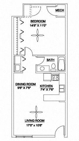 The Brightleaf GE 700 Floor Plan 1