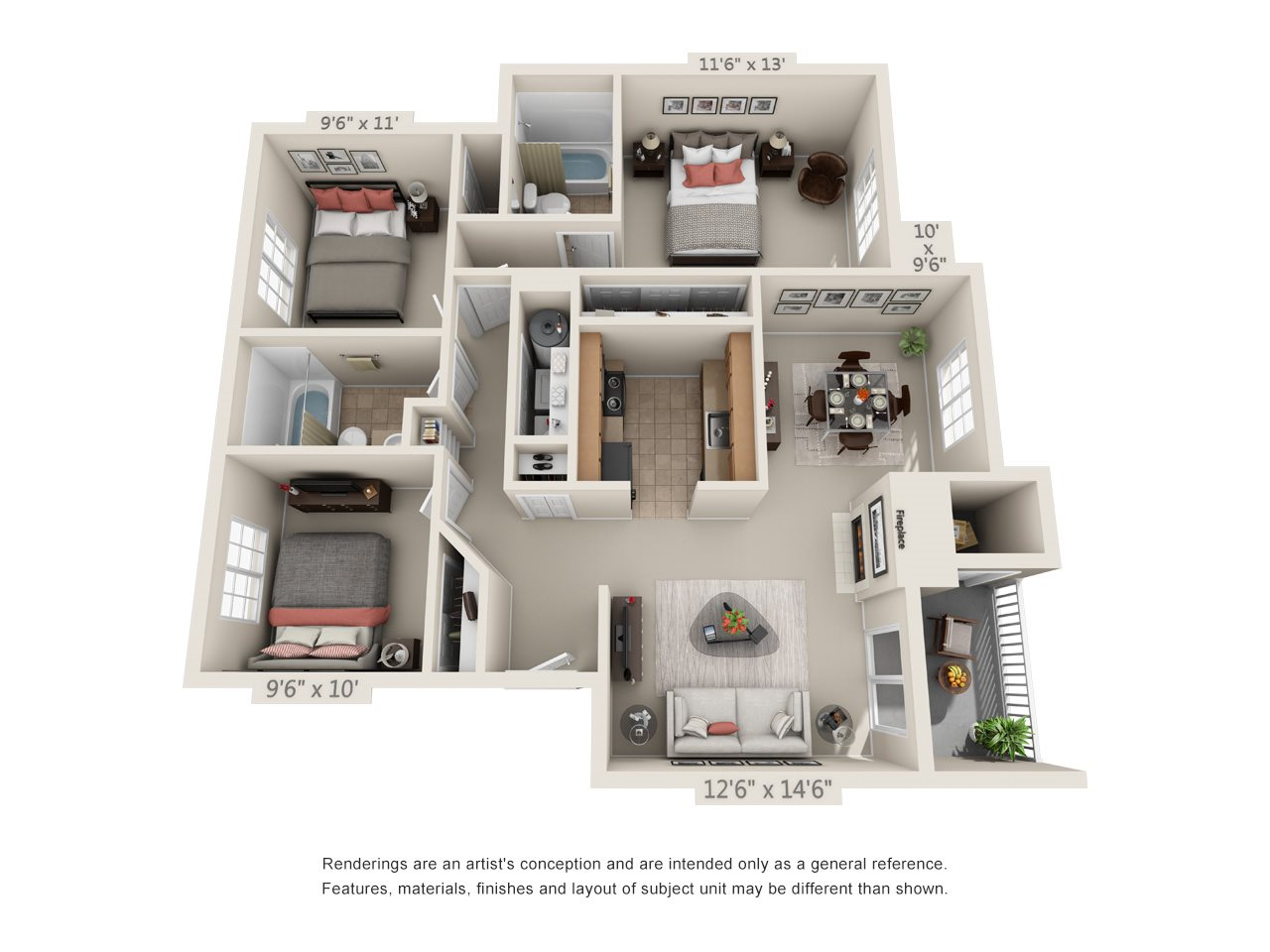 3 Bedroom 2 Bathroom - C1 Floor Plan 5