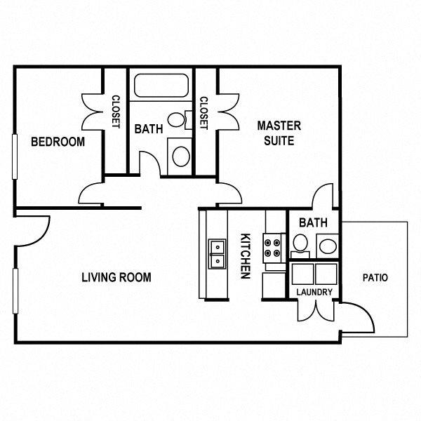 2x1.5 Floor Plan 5