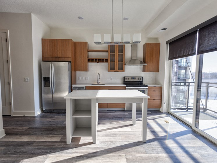 Breakfast Bars with Quartz Countertops at Central Park West, St Louis Park, 55416