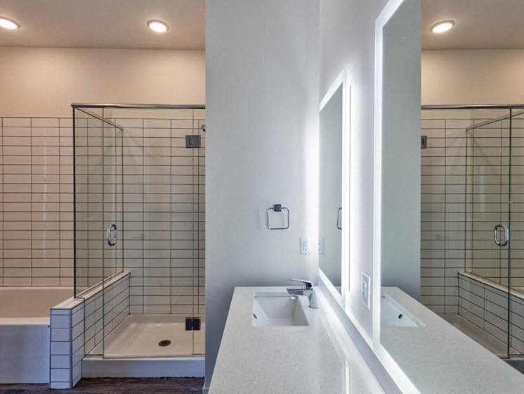 Glass-Enclosed Showers at Central Park West, Minnesota, 55416