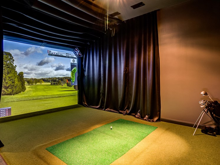 Golf Simulator at Central Park West, St Louis Park, 55416
