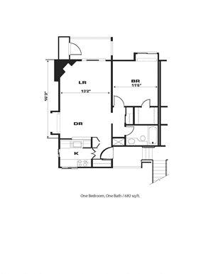 1br/1ba, Fireplace, End Unit
