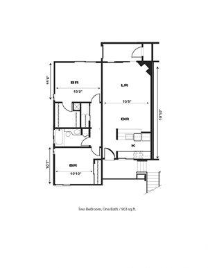 2br/1ba, Fireplace, End Unit