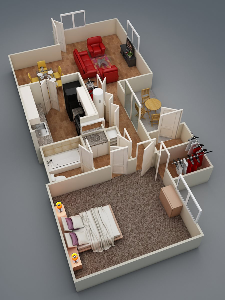 One Bed | One Bath | Executive | C3 Floor Plan 4
