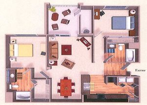 B3 | Two Bedroom