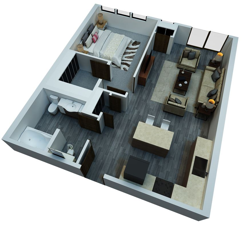 one bedroom floorplan 8