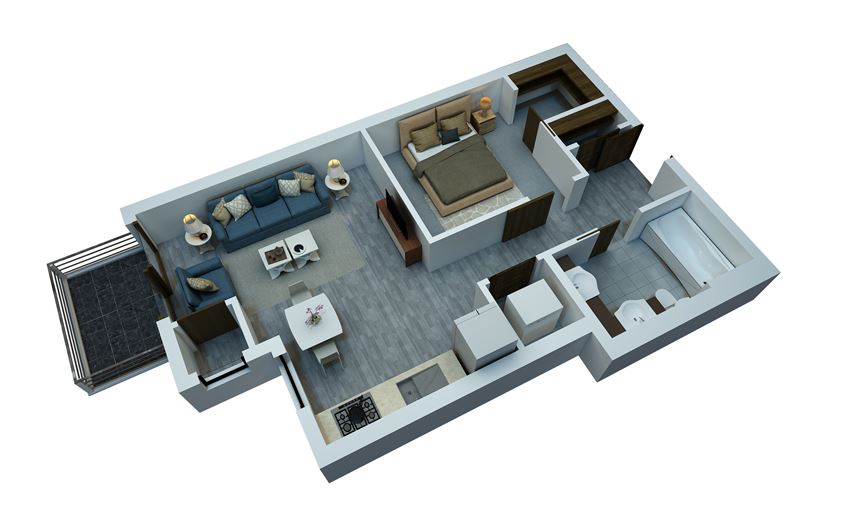 studio floorplan 507 sq ft