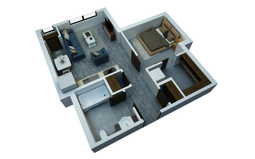 studio floorplan 511 sq ft