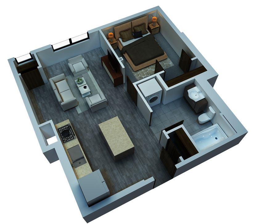 studio floorplan 537 sq ft