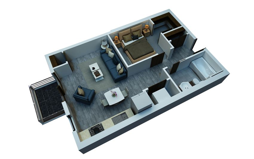 studio floorplan 578 sq ft