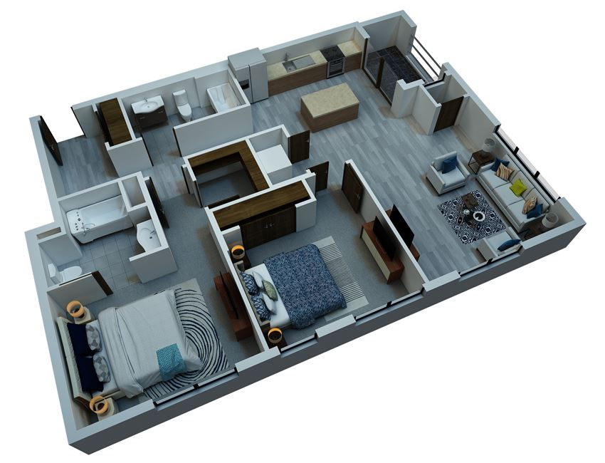 two bedroom floorplan ADA