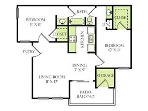 Two Bedroom One Bathroom