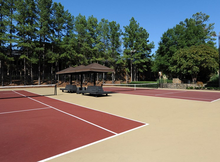 Whisperwood tennis court.