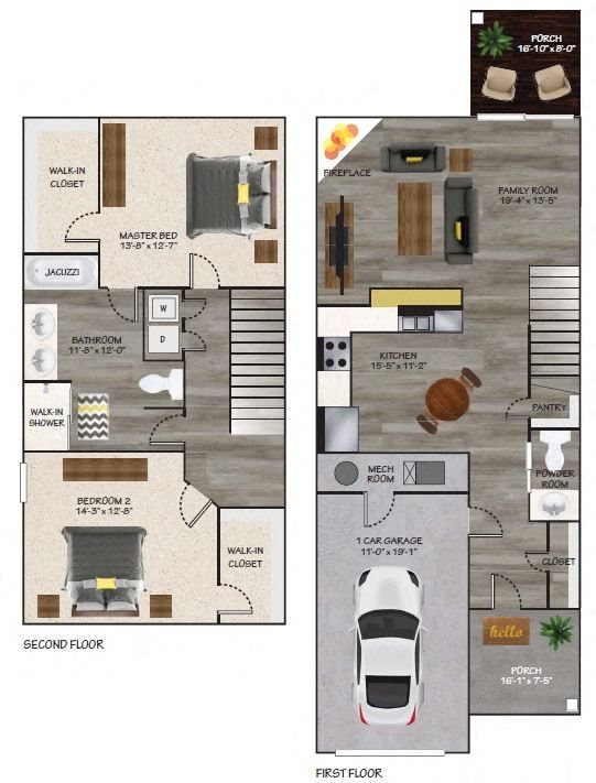 Townhome B Floor Plan 3
