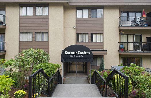 Braemar Gardens apartments building exterior entrance in Coquitlam, BC