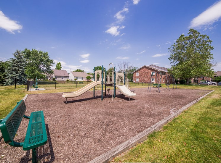 The playground at Northlake Village Apartments is great for kids