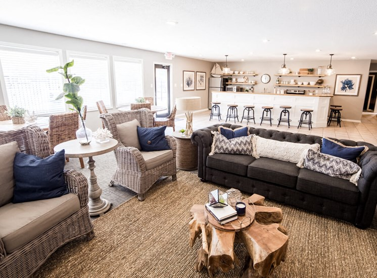 Modern Living Area in Noblesville- Northlake Village Apartments