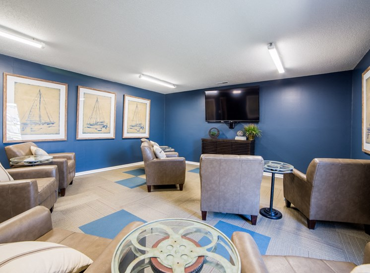 Entertaining Theater Room- Northlake Village Apartments
