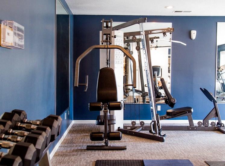 24 Hour Fitness Center- Modern Noblesville Apartments