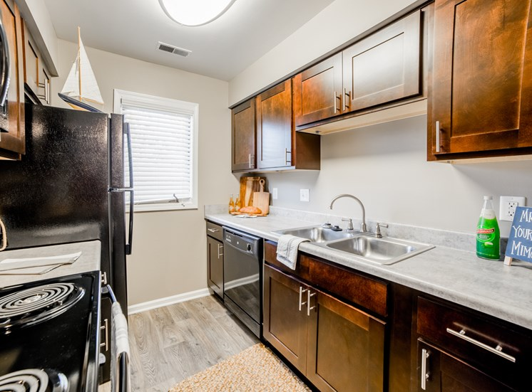 Spacious Kitchen with Pantry Cabinet at Northlake Village Apartments, Noblesville, IN, 46060
