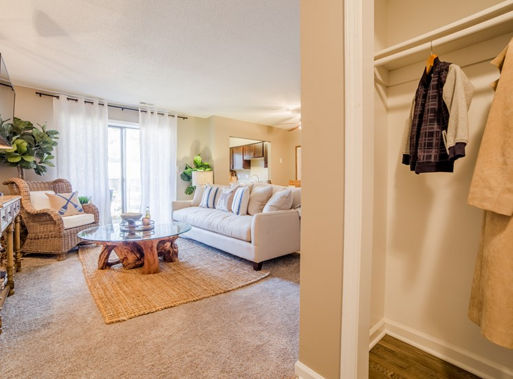 Spacious Living Area in 2B-2BR Apartment at Northlake Village