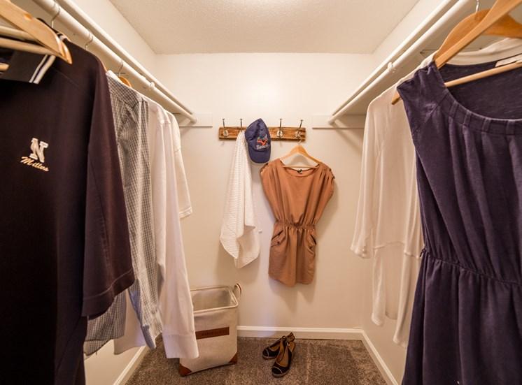 Spacious Walk-in Closet in 2B-2BR Apartment at Northlake Village