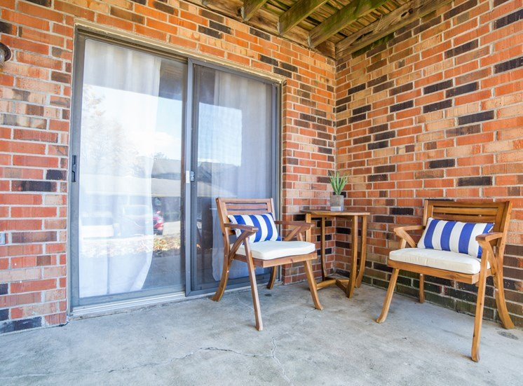 Patio Space at Northlake Village Apartments