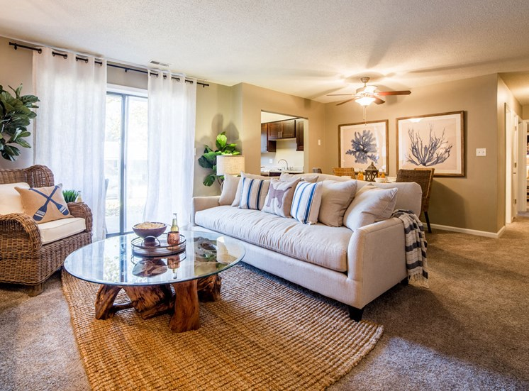 Northlake Village apartments includes a spacious living area