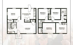 5 Bedroom 1.5 Bath 1480sf