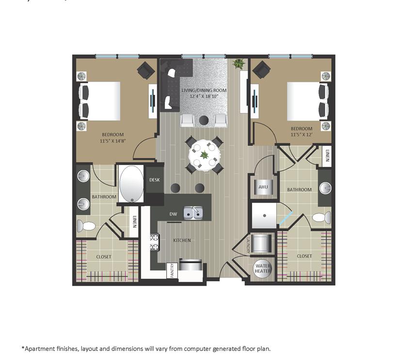 Gables Arsenal Street B1-HI Floorplan