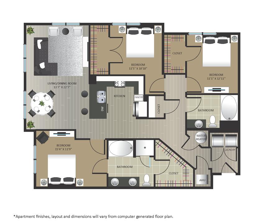 Gables Arsenal Street C1 Floorplan
