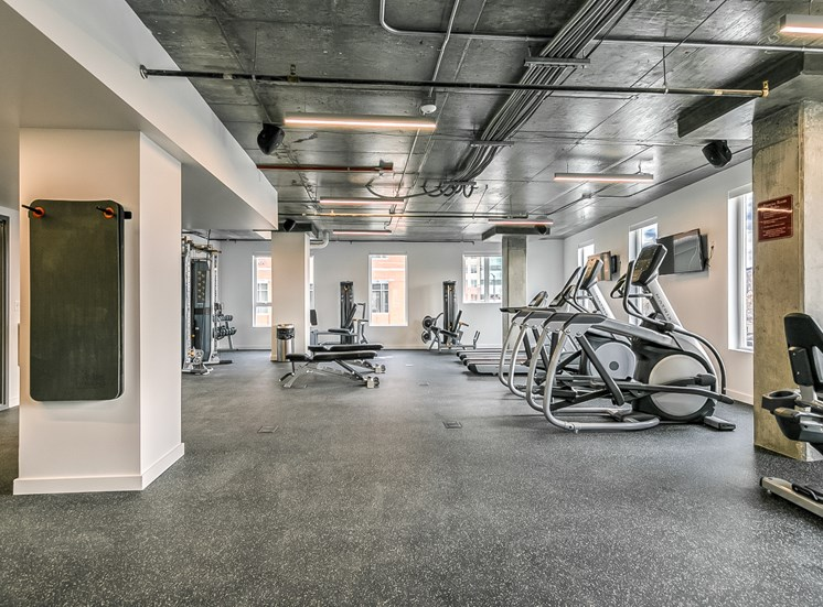 Modern Fitness Center at The Fowler, Boise, Idaho