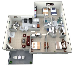Three Bedroom Apartment-A