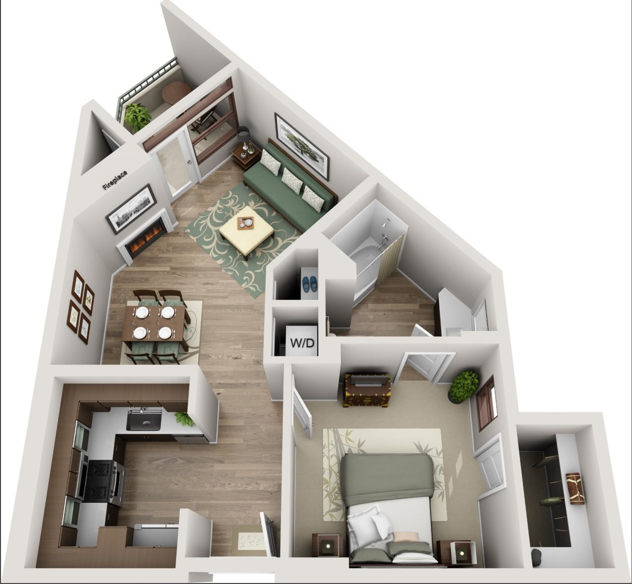 The Glendon_Los Angeles CA_Floor Plan_A_One Bedroom One Bathroom