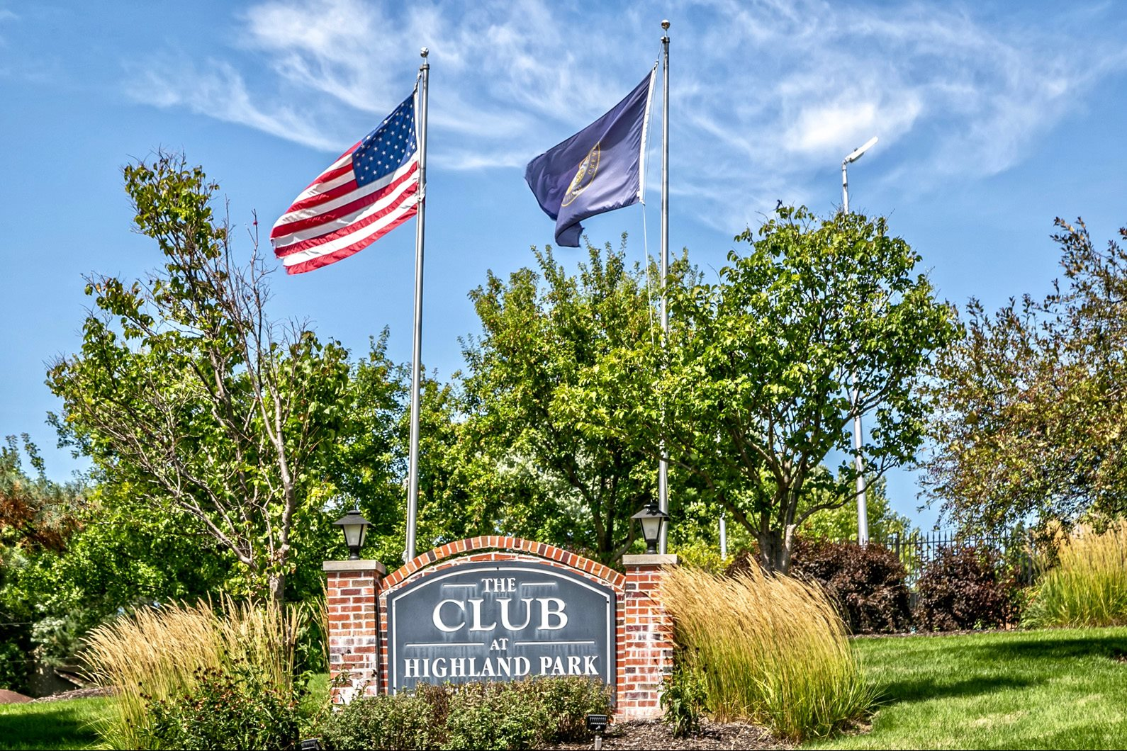 Property Signage at Club at Highland Park Apartments, Omaha, NE